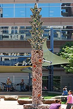 Bethesda Place Plaza - Untitled Column