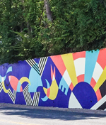"""Paint the Town"" Mural Project Capital Crescent Trail Retaining Wall"