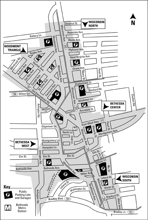 Bethesda Arts & Entertainment District Map